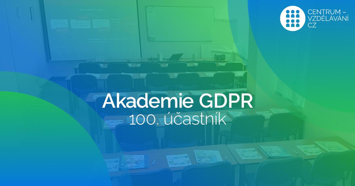 100-tý pověřenec naší Akademie GDPR
