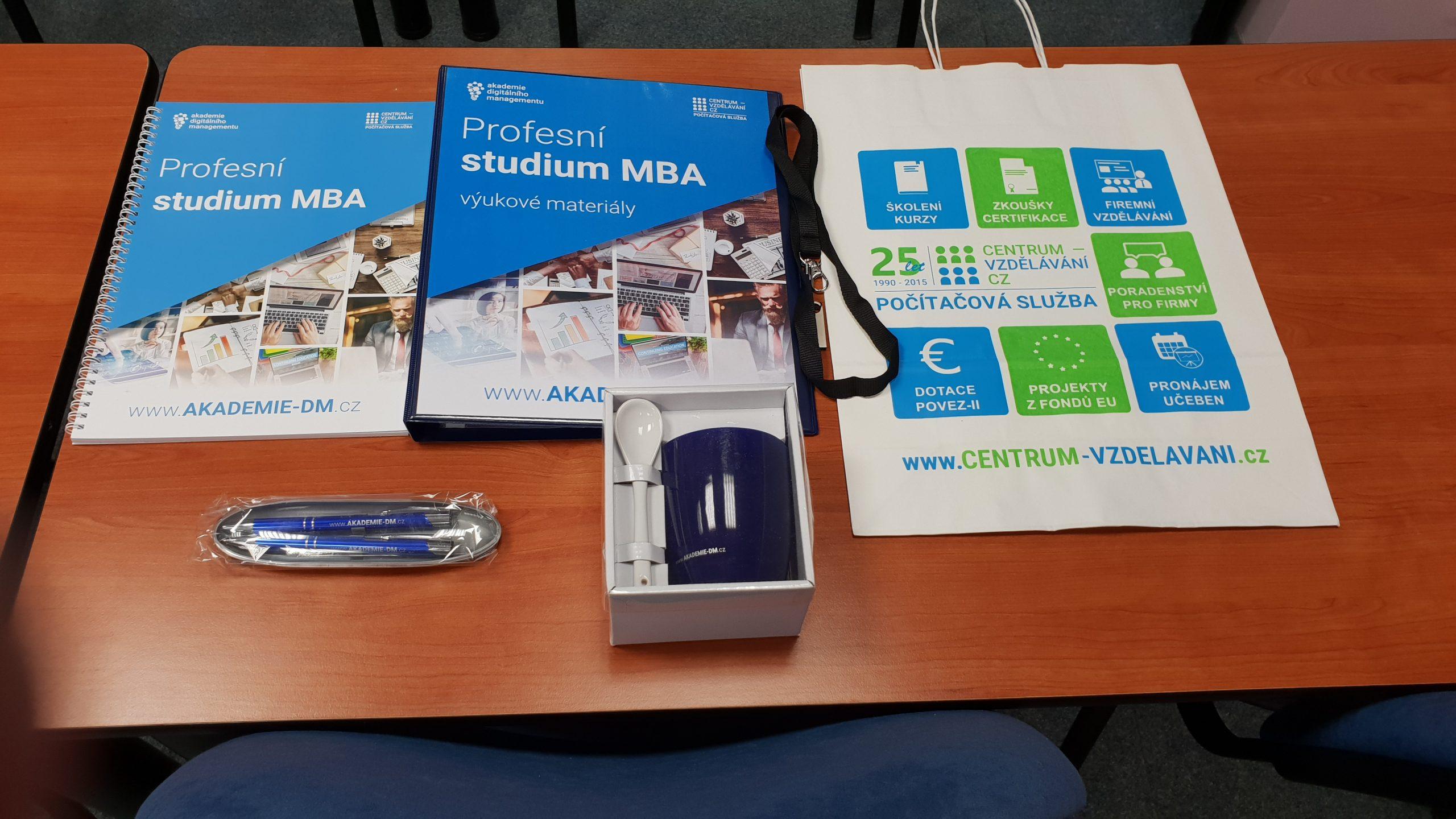 Zahajovací balíček pro studenta MBA