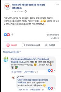 Manažer projektu - hodnocení od účastníků na FB