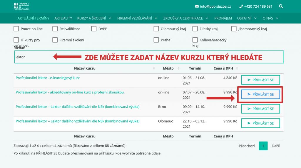 Jak se přihlásit na rekvalifikační kurz - centrum-vzdělávání.cz