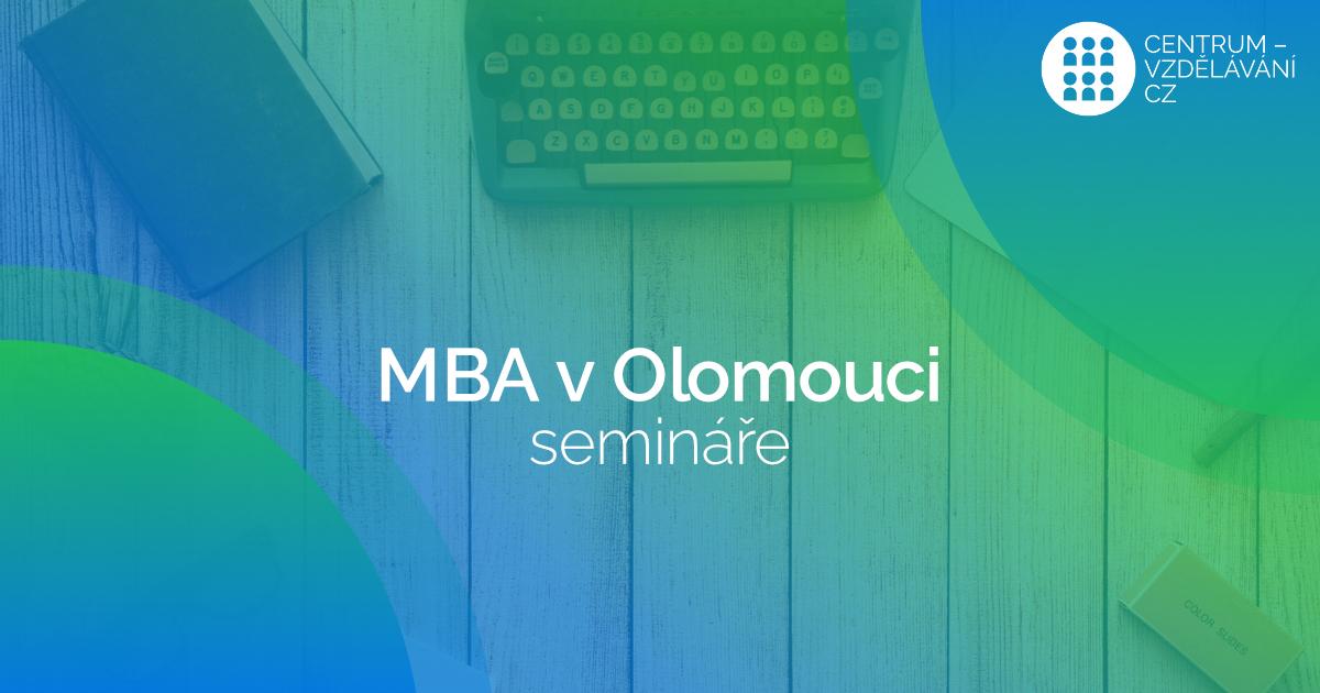 Nabídka jednotlivých seminářů v rámci studia MBA v Olomouci