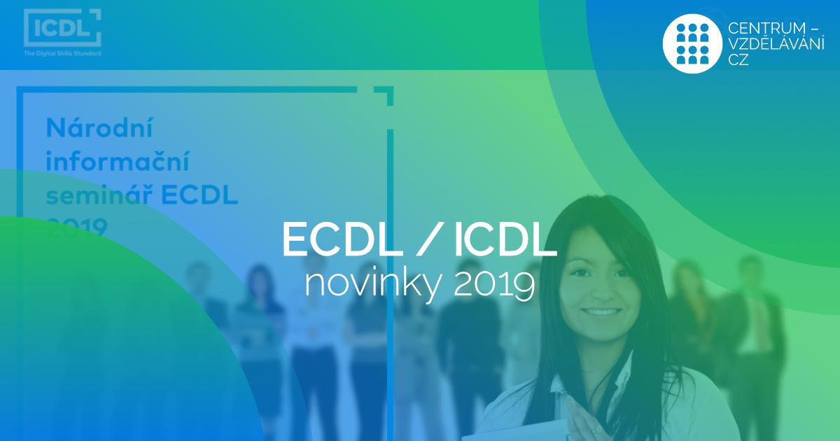Novinky v ECDL ICDL 2019