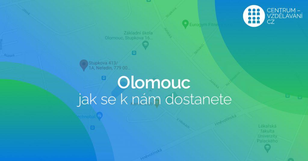 Olomouc - jak se k nám dostanete - učebny - pronájem