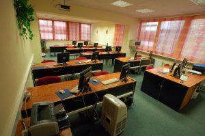 Počítačová učebna v Olomouci rok 2008
