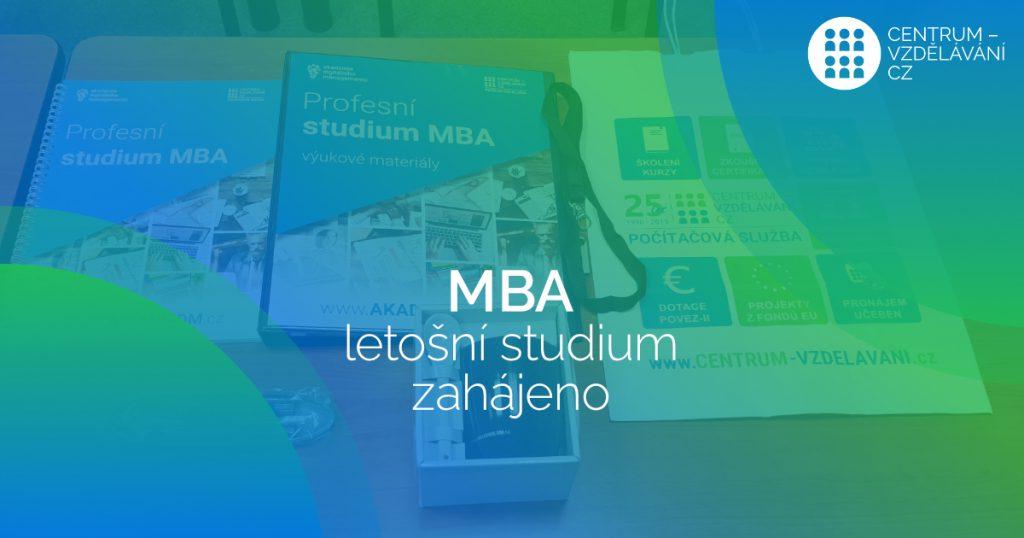Zahájili jsme letošní studium MBA - poslední volná místa
