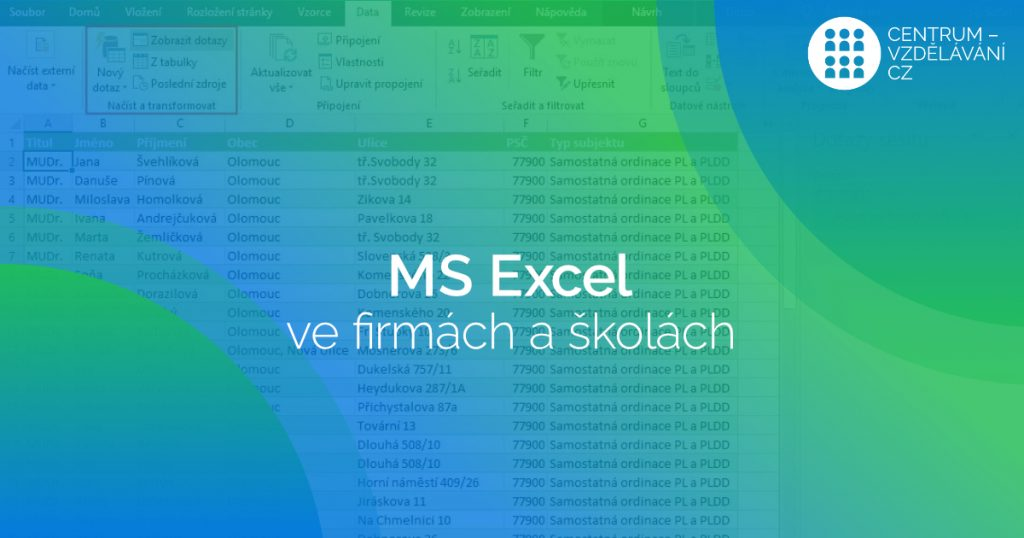 Zkušenosti se školením MS Excel v organizacích a firmách